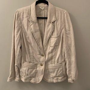 J. Jill linen blazer jacket 12 tall